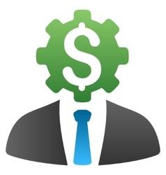 Banker Robot Gradient Icon vector