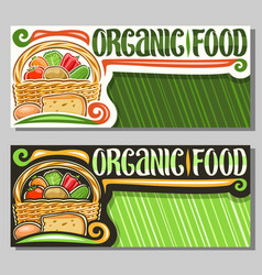banners for organic food vector image