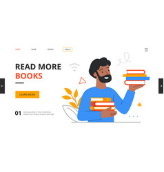 berded man with books vector image