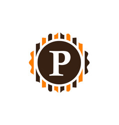 Best quality letter p vector