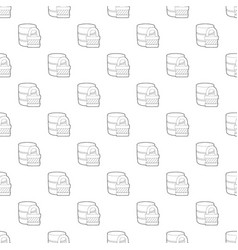 blocked database icon outline style vector image