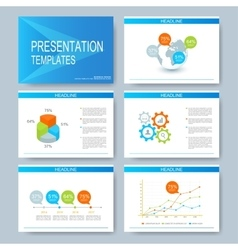Blue set of templates for multipurpose vector