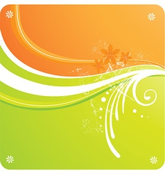 bright abstract floral background vector image