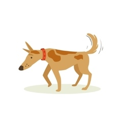 Brown Pet Dog Shuffling Away Disappointed Animal vector