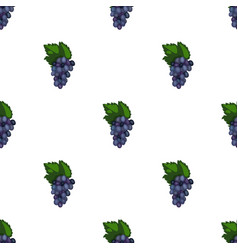 bunch of grapes icon in cartoon style isolated on vector image
