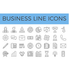 Business related line icons set vector