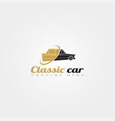 Classic car icon template creative logo design vector