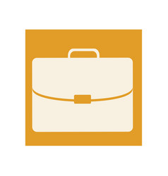 color briefcase icon business vector image