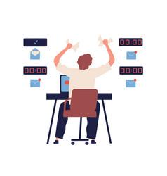 concept missing deadline bad time management vector image