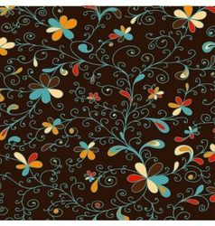 Decorative floral pattern colored vector image