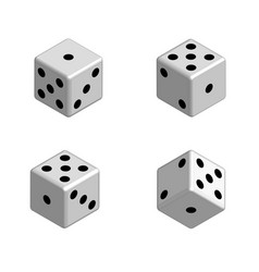 Dice set in isometric 3d vector
