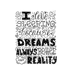 doodle lettering quote vector image