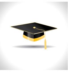Education black cap with golden elements vector