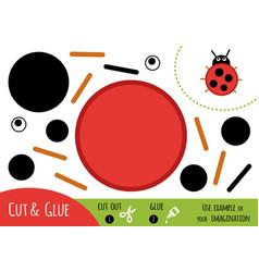 education paper game for children ladybug vector image