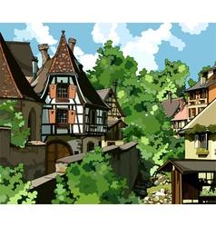 European village vector image