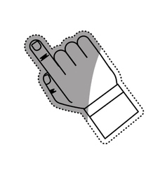 Finger touching something vector image