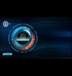 fingerprint scan technology user interface vector image