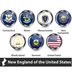Flags new england us vector