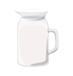 Full color with glass jug vector
