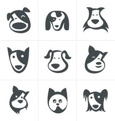 Fun dog icon vector