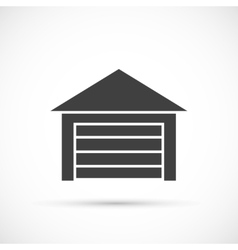 Garage icon on white vector
