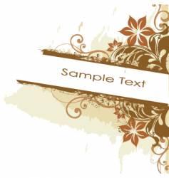 grunge floral side banner vector image