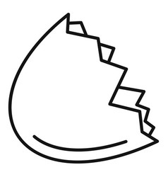 half eggshell icon outline style vector image