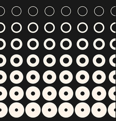 halftone rings seamless pattern abstract texture vector image vector image