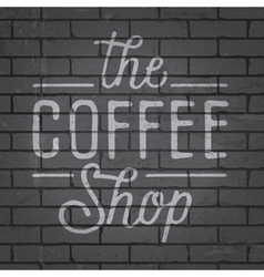Hand drawn lettering slogan for coffee vector image