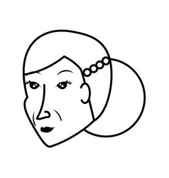 Head chinese old woman avatar character vector