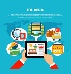 Hotel booking design concept vector