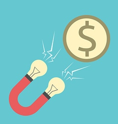 Innovative magnet attracting money vector image