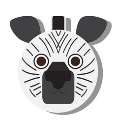Isolated zebra face vector