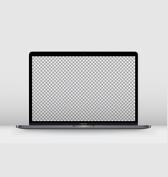 laptop perspective transparent vector image