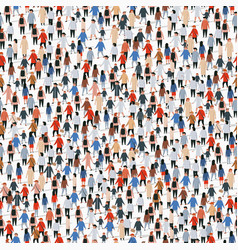 Large group people seamless background vector