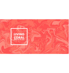 living coral color year 2019 on marble vector image
