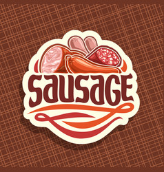 Logo for sausage vector