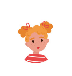 lovely girl with red hair avatar of cute little vector image