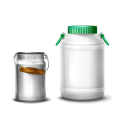 milk or water can container vector image
