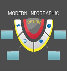 Modern Option Info Graphic Template vector image