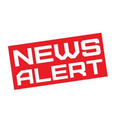 News alert typographic sign vector
