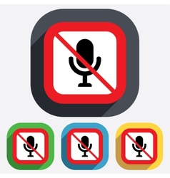 No Microphone icon Speaker symbol Live music vector