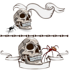 old skull banners vector image