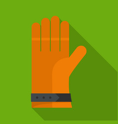 one glove icon flat style vector image
