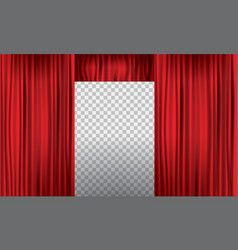 opening realistic red curtain with high detail vector image