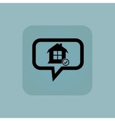 Pale blue select house message vector