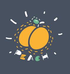 Peach icon on dark vector