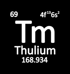 periodic table element thulium icon vector image