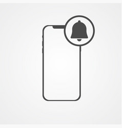 phone with bell icon sign symbol vector image