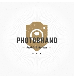 Photographer Logo Hand Drawn Template vector